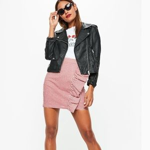 NWT red gingham grill mini skirt